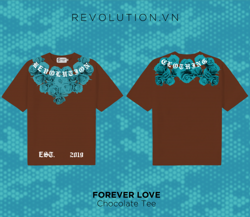 7.Forever Love Chocolate T-shirt